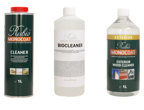 RUBIO MONOCOAT CLEANER, BIOCLEANER JA EXTERIOR WOOD CLEANER